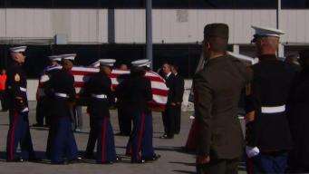 Remains of World War II Marine Returns to Home to Gilroy Family