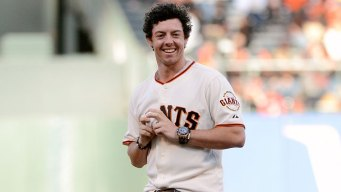 Rory McIlroy Aces First Pitch at AT&T