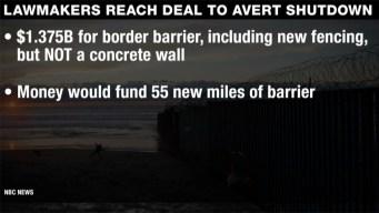 Shutdown Deal Offers No Money for Concrete Wall