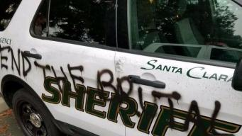 Sheriff's Vehicles Tagged With Disturbing Messages