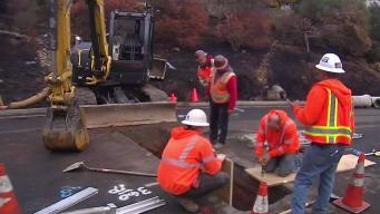 Small Sinkhole Temporarily Closes Santa Rosa Street