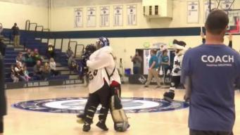 Special Olympics Floor Hockey Event Lifts Sharks' Spirit