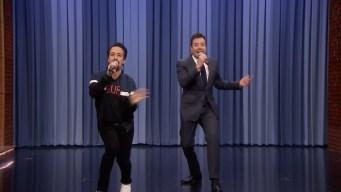 'Tonight': Jimmy Fallon and Lin-Manuel Miranda Sing Holiday Parodies