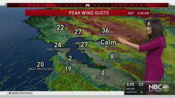 Update on Saturday Morning North Bay Wind Gusts