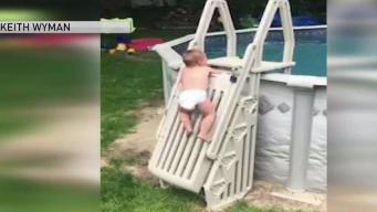 Dad Warns Parents of Pool Safety After Toddler Scales Locked Ladder