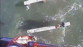 RAW: Coast Guard Rescues Boaters Beset by High Winds