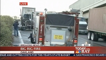 Flames Engulf Oakland Big Rig