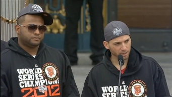 Pablo Sandoval and Marco Scutaro Speak