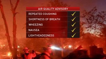 North Bay Fires: Health Officials Issue Smoke Advisory