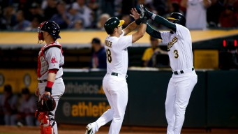 A's Power Past Phillies, Flex Their Way to Series Win