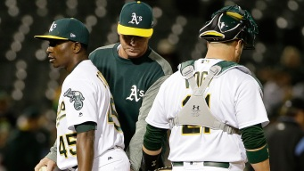 A's Offense Goes Flat, Cotton Gives Up 5 in Loss to Angels