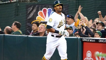 A's Flex Power at the Plate and With Their Arms in Win Over Angels