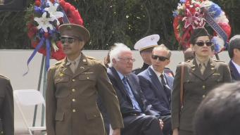 Sanders Keeps it Nonpolitical at Presidio Memorial Day Ceremony