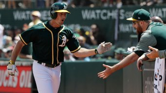 Gray Sharp, Brugman Homers as A's Beat White Sox