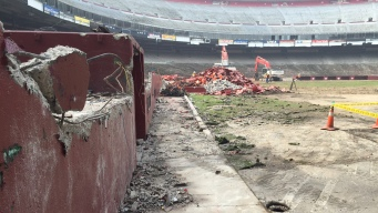 Demolition of Candlestick Park Underway