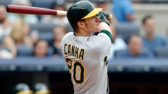 A's Lineup: Canha Moves Up, Pinder at DH Against Yankees