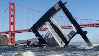 Team Oracle Boat Capsizes Near Golden Gate Bridge