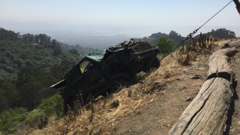 Car Falls Off Cliff in East Bay, Rescue Underway