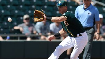 A's Rookie Chapman Most Likely Sidelined Until Next Week