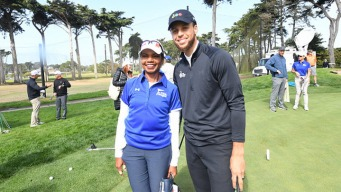 Warriors' Steph Curry Hopes to Change Face of Golf