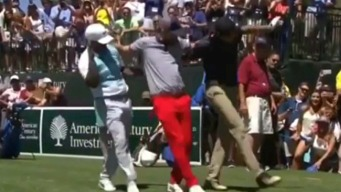 Stephen Curry Busts a Move at Celebrity Golf Event