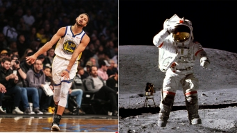 NASA Invites Steph Curry on Tour to Prove People Landed on the Moon