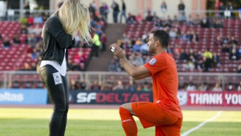 Proposal on the Pitch: Deltas Goalie Asks, and She Says Yes