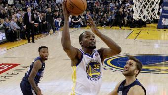Durant, Warriors Beat Mavericks Running Away