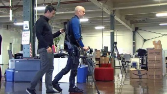 Exoskeleton Helps Paralyzed People Get Back on Their Feet