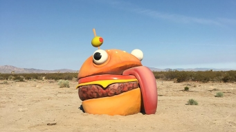 Fortnite Objects Brought to Life in California Desert