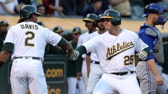 Healy Goes Deep Twice to Power A's Past Toronto