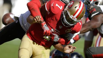 49ers' Kaepernick Shoulders Blame: 'I Have to Be Better'