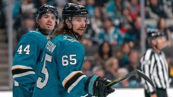 Sharks' Erik Karlsson, Marc Edouard-Vlasic, Martin Jones Excites Randy Hahn