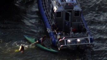 Kayakers Rescued From Hudson River After Being Hit by Ferry