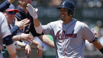 A's Rally Falls Short, Swept by Braves at Home
