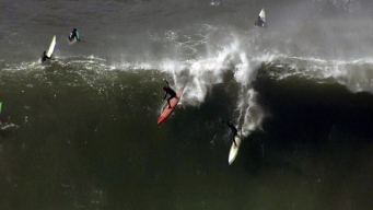 Fans Gear Up for Titans of Mavericks Surf Competition Near Half Moon Bay