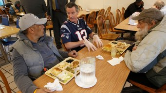 California's Governor Serves Meals in Tom Brady Jersey