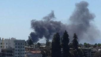 Single-Alarm Fire Near East Bay Waterfront Produces Heavy Smoke
