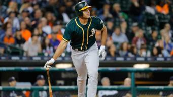 Rookie Olson Homers in 4th Straight Game as A's Beat Tigers