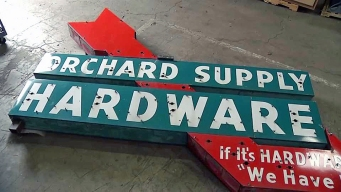 Stolen Historic Orchard Supply Hardware Sign is Found