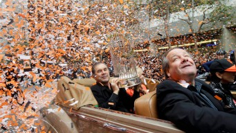 Raw Video: Giants Parade