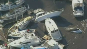 Tsunami Capsizing Boats in Santa Cruz