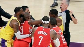Watch Rajon Rondo Punch Chris Paul in Lakers-Rockets NBA Brawl