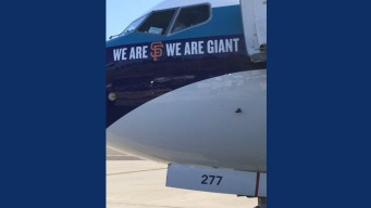 A's Fly Back From Seattle Aboard Giants-Branded Plane