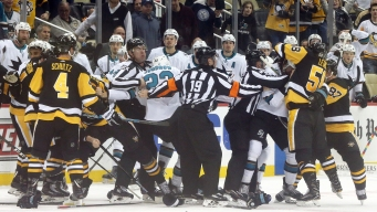 Sharks Not Surprised by Late-game Tussles in Blowout Win Over Penguins