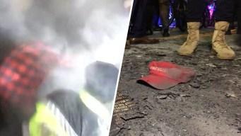 Smoke, Chaos at Anti-Trump Protest Near DeploraBall