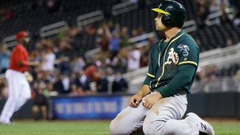 Notes: A's OF Smolinski Sidelined by Sore Right Shoulder