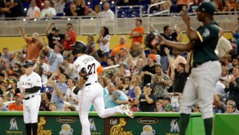 Stanton, Marlins Rough Up Cotton, Trounce A's in Miami