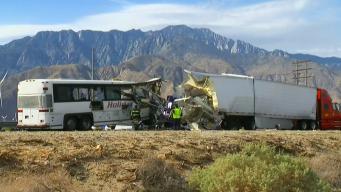 13 Killed, 31 Injured in Tour Bus Crash in California