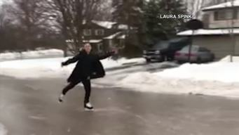 Roads In Canada Turn Into Ice Rinks